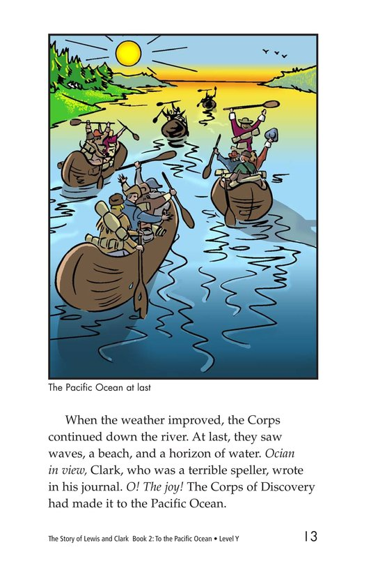 Book Preview For The Story of Lewis and Clark Book 2: To the Pacific Ocean Page 13