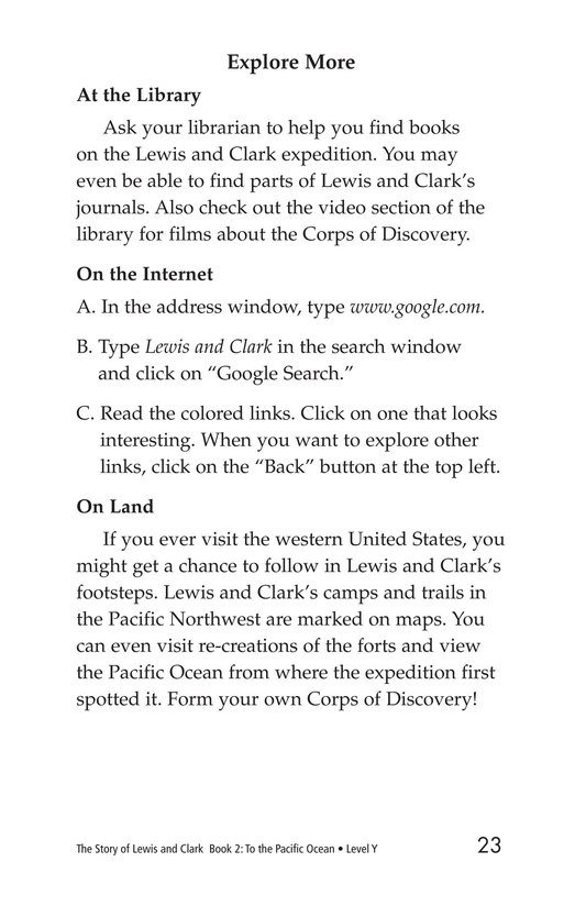 Book Preview For The Story of Lewis and Clark Book 2: To the Pacific Ocean Page 23