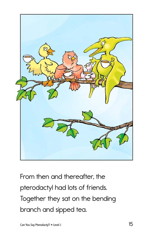 Book Preview For Can You Say Pterodactyl? Page 15
