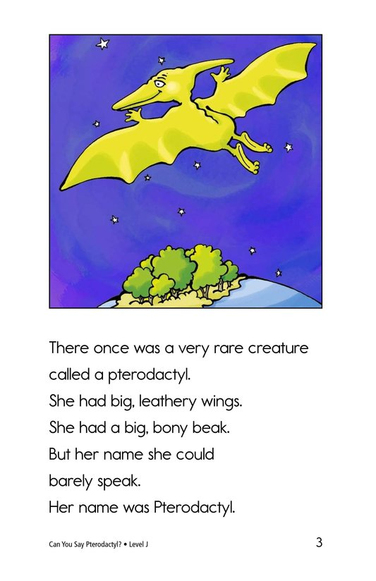 Book Preview For Can You Say Pterodactyl? Page 3