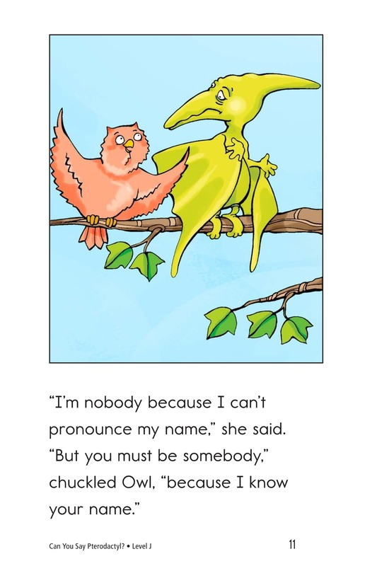 Book Preview For Can You Say Pterodactyl? Page 11