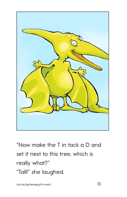 Book Preview For Can You Say Pterodactyl? Page 13