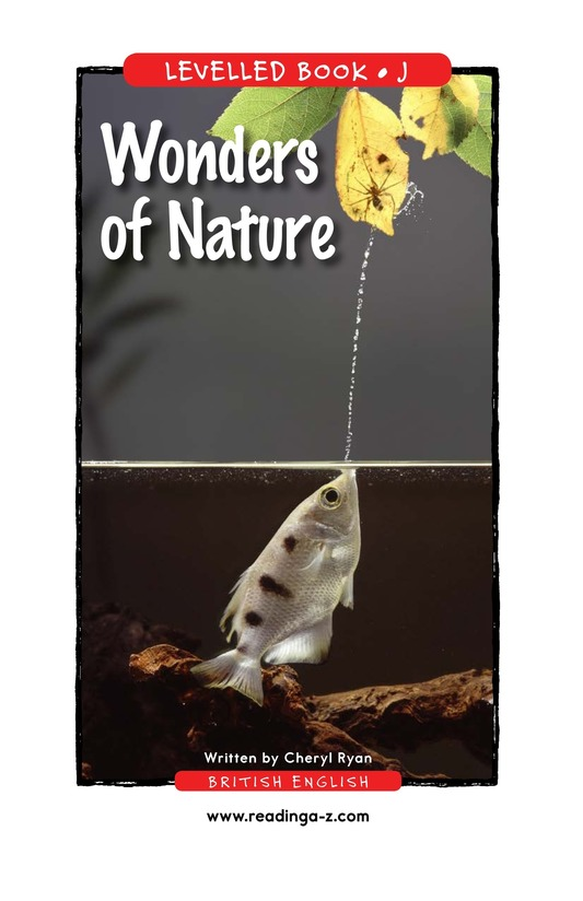 Book Preview For Wonders of Nature Page 1