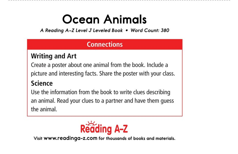 Book Preview For Ocean Animals Page 17