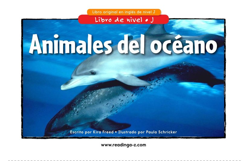 Book Preview For Ocean Animals Page 0