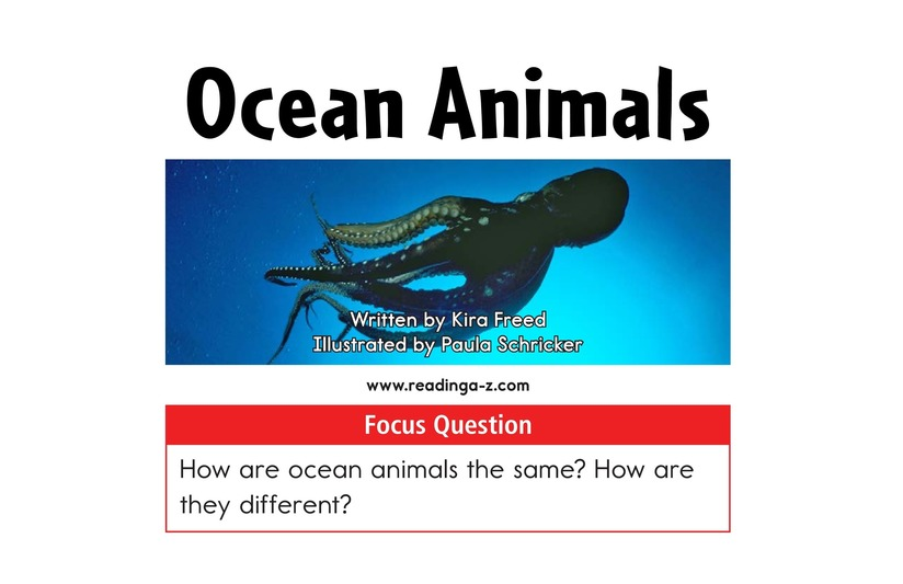 Book Preview For Ocean Animals Page 2