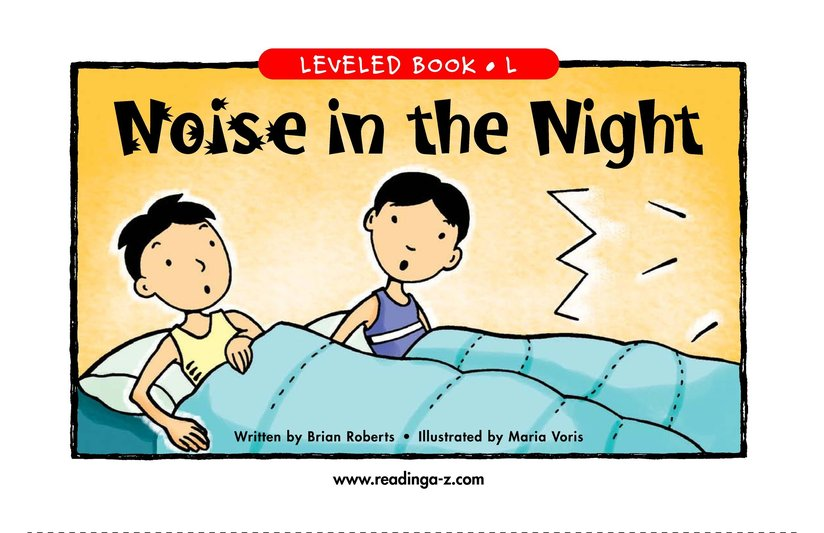 Book Preview For Noise in the Night Page 1