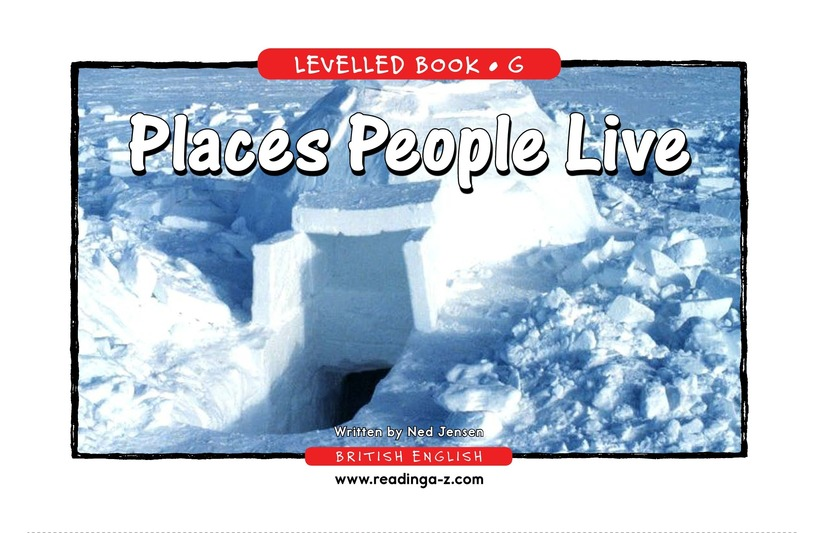 Book Preview For Places People Live Page 1