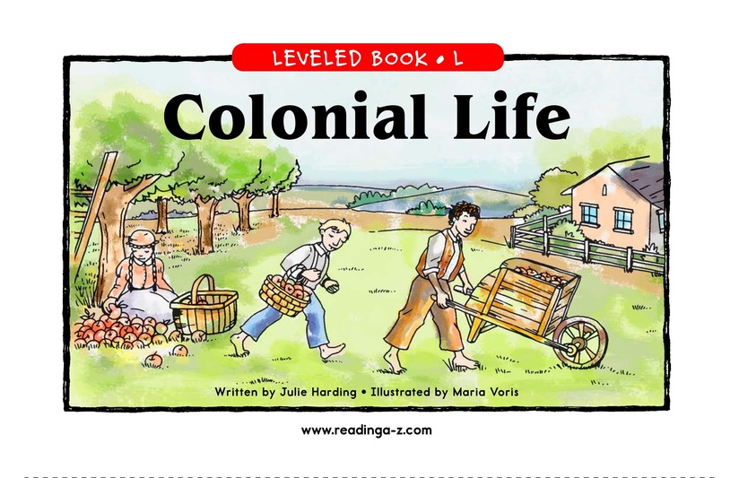 Book Preview For Colonial Life Page 1