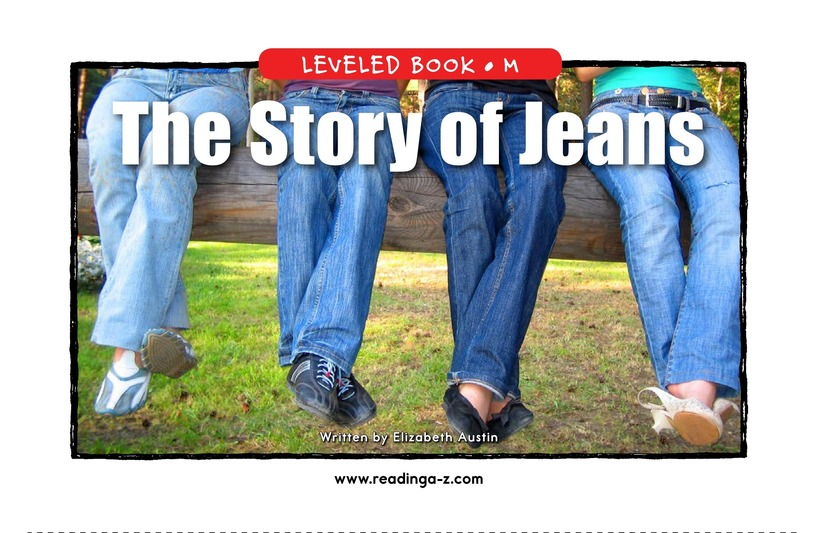 Book Preview For The Story of Jeans Page 1