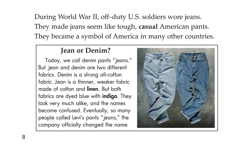 Book Preview For The Story of Jeans Page 8