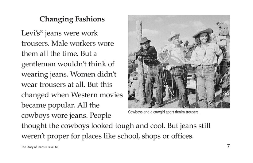 Book Preview For The Story of Jeans Page 7