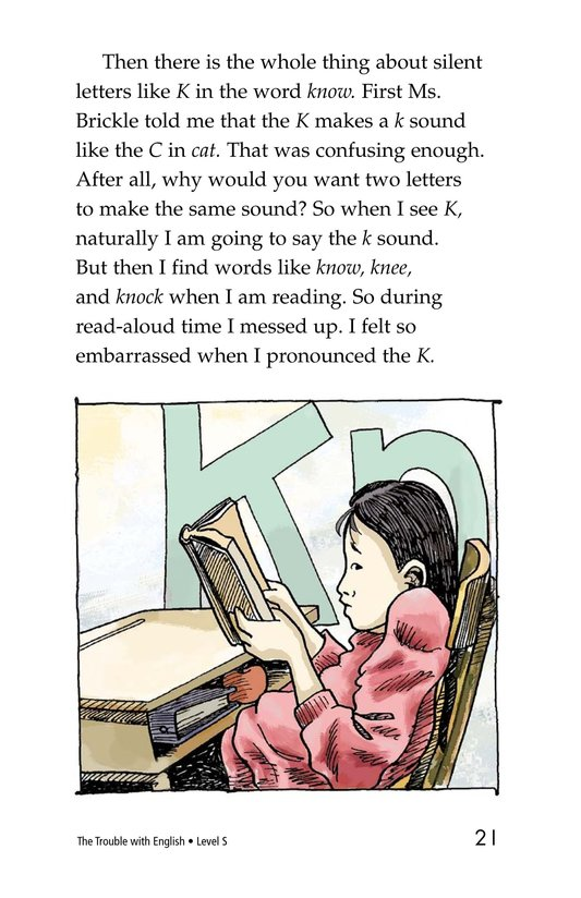 Book Preview For The Trouble with English Page 21