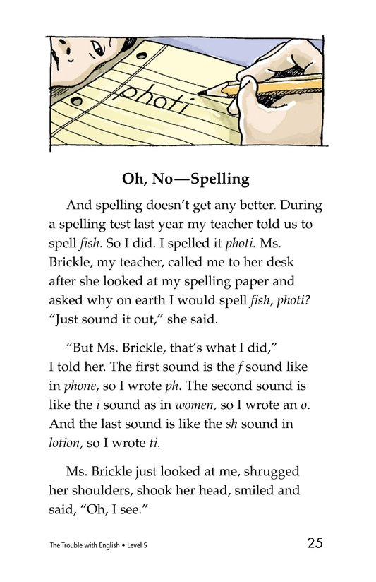 Book Preview For The Trouble with English Page 25