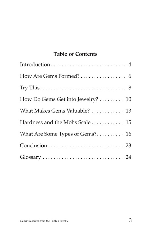 Book Preview For Gems: Treasures from the Earth Page 3