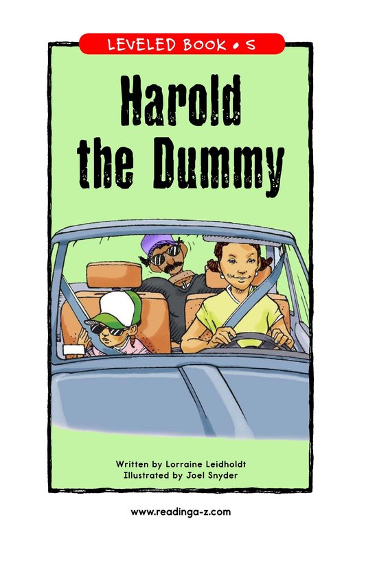 Book Preview For Harold the Dummy Page 1