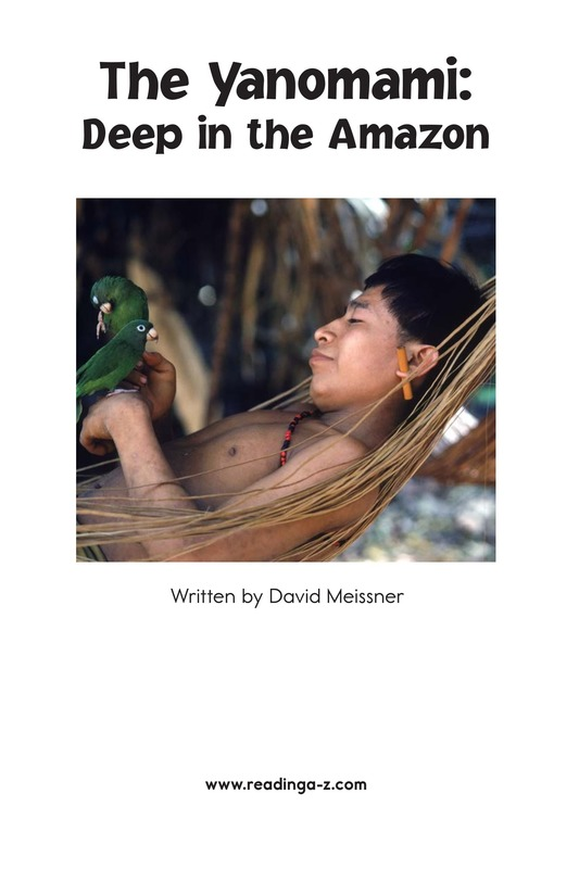Book Preview For The Yanomami: Deep in the Amazon Page 2
