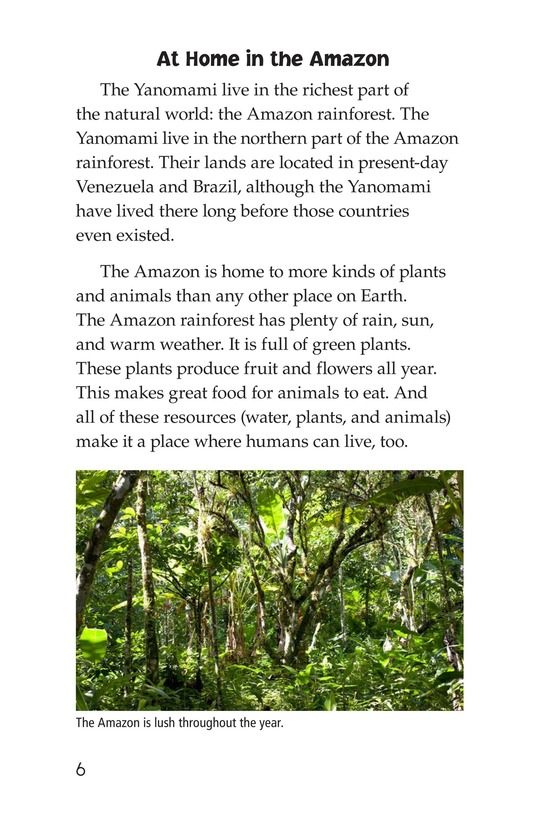 Book Preview For The Yanomami: Deep in the Amazon Page 6