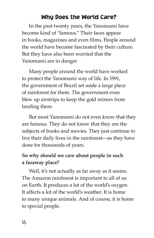 Book Preview For The Yanomami: Deep in the Amazon Page 16