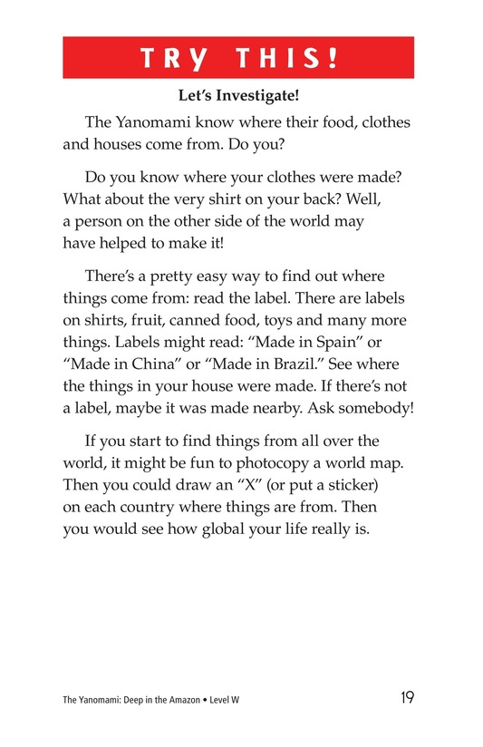 Book Preview For The Yanomami: Deep in the Amazon Page 19