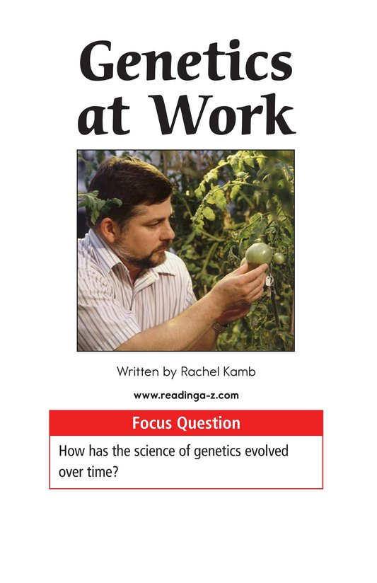 Book Preview For Genetics at Work Page 1