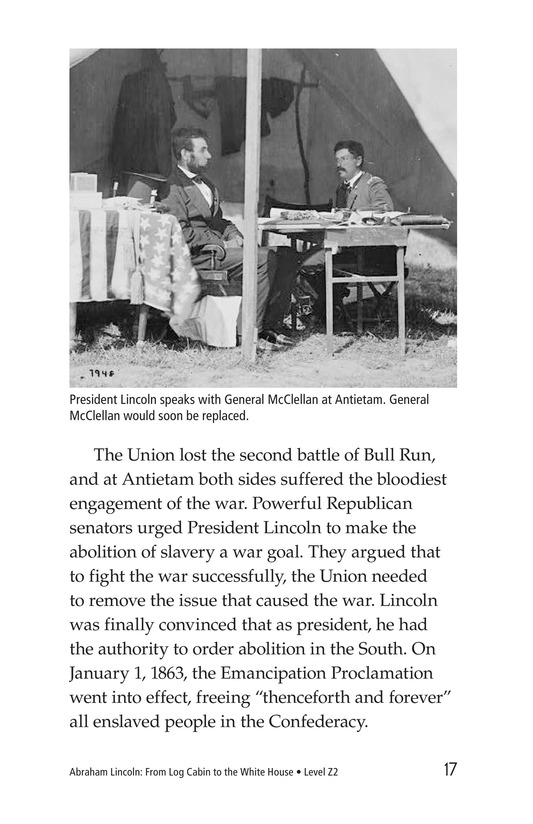 Book Preview For Abraham Lincoln: From Log Cabin to the White House Page 17