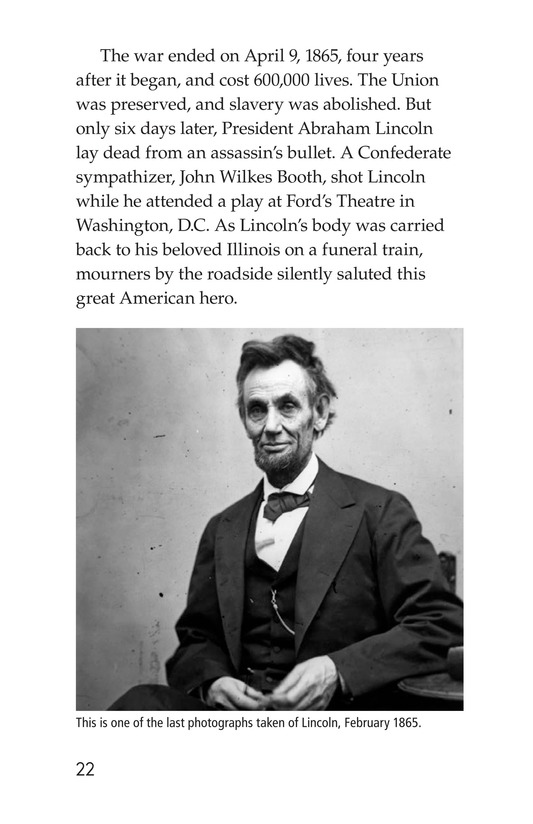 Book Preview For Abraham Lincoln: From Log Cabin to the White House Page 22