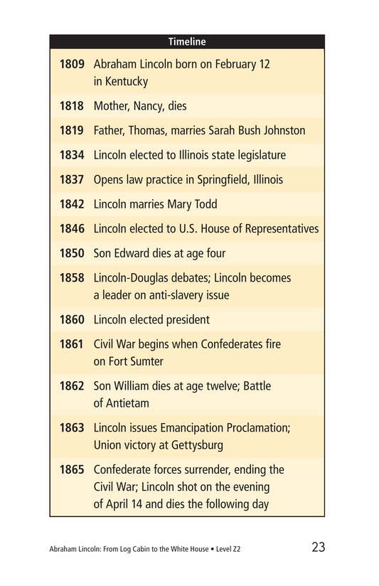Book Preview For Abraham Lincoln: From Log Cabin to the White House Page 23
