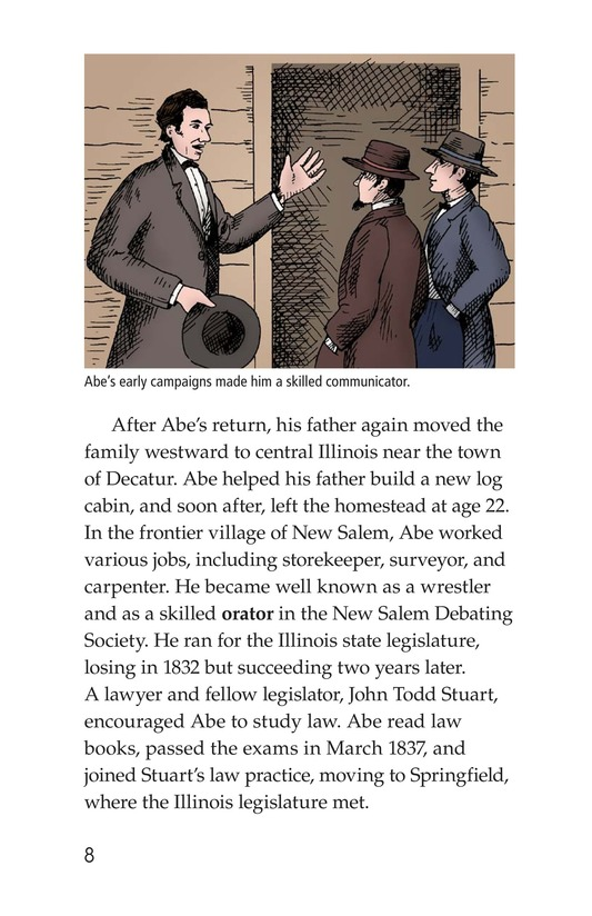 Book Preview For Abraham Lincoln: From Log Cabin to the White House Page 8
