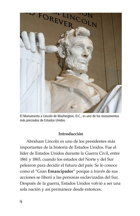 Book Preview For Abraham Lincoln: From Log Cabin to the White House Page 4