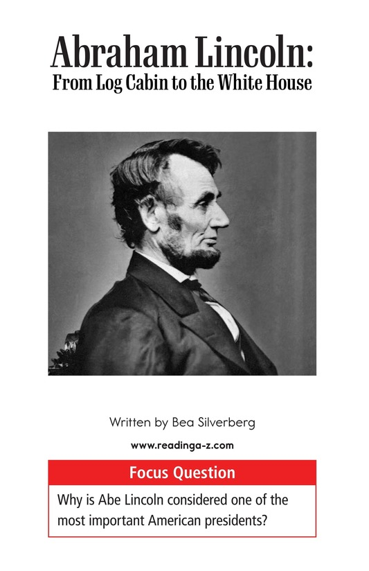 Book Preview For Abraham Lincoln: From Log Cabin to the White House Page 1