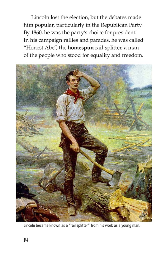 Book Preview For Abraham Lincoln: From Log Cabin to the White House Page 14