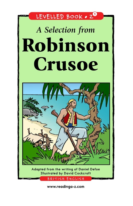 Book Preview For A Selection From Robinson Crusoe Page 0