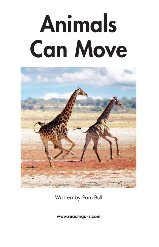 Book Preview For Animals Can Move Page 2