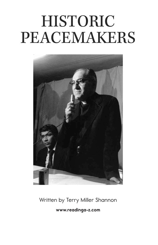 Book Preview For Historic Peacemakers Page 2