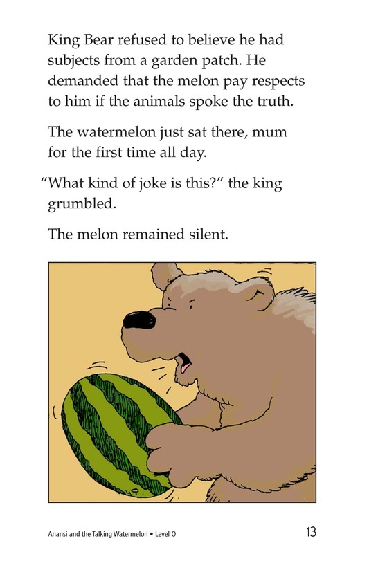 Book Preview For Anansi and the Talking Watermelon Page 13
