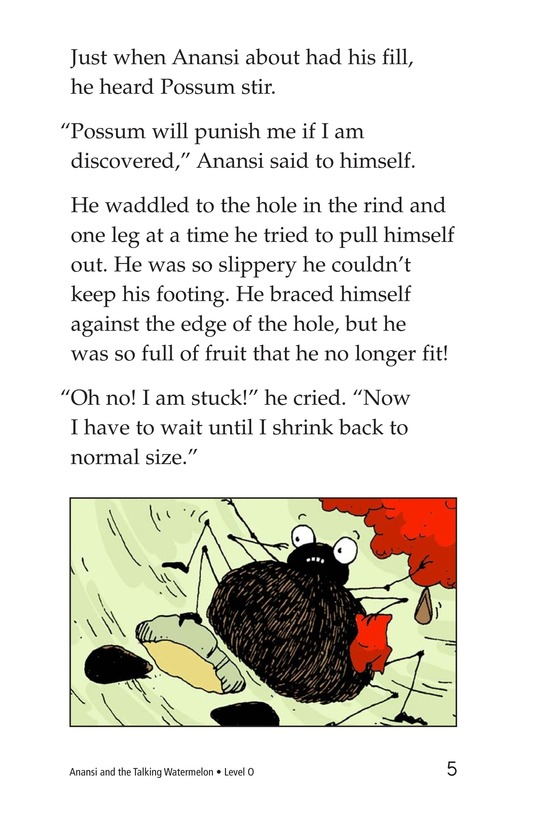 Book Preview For Anansi and the Talking Watermelon Page 5
