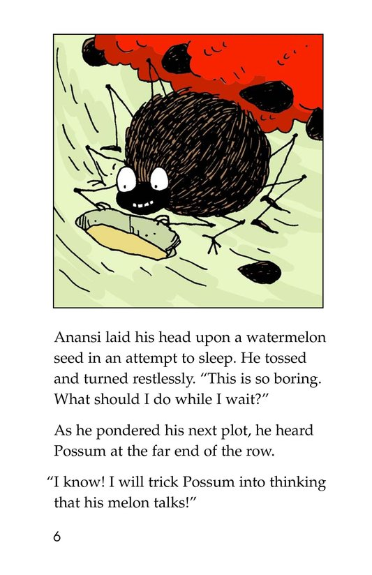 Book Preview For Anansi and the Talking Watermelon Page 6