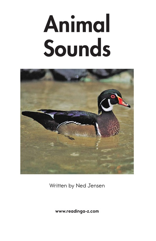 Book Preview For Animal Sounds Page 2