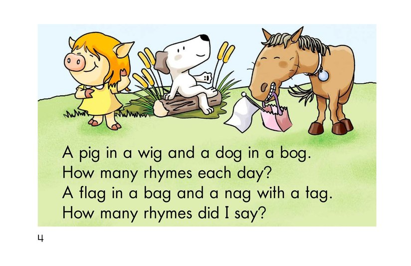 Book Preview For How Many Rhymes? Page 4
