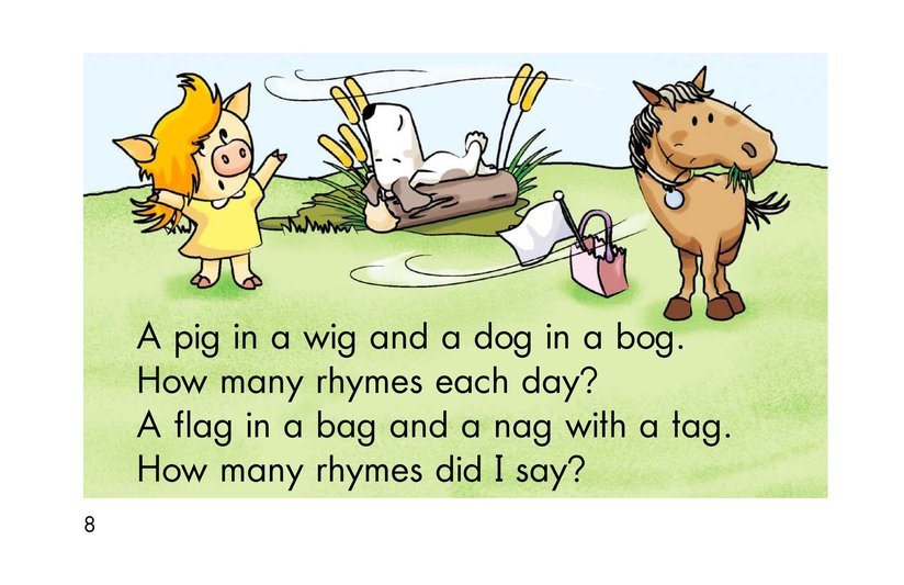 Book Preview For How Many Rhymes? Page 8