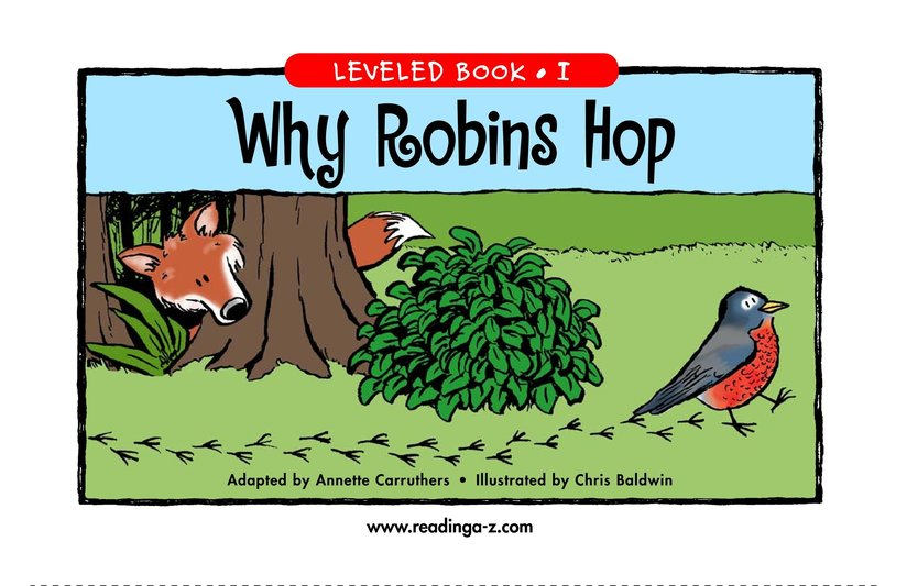 Book Preview For Why Robins Hop Page 1