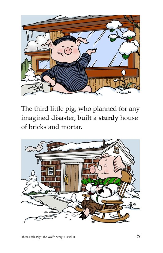 Book Preview For Three Little Pigs: The Wolf's Story Page 5