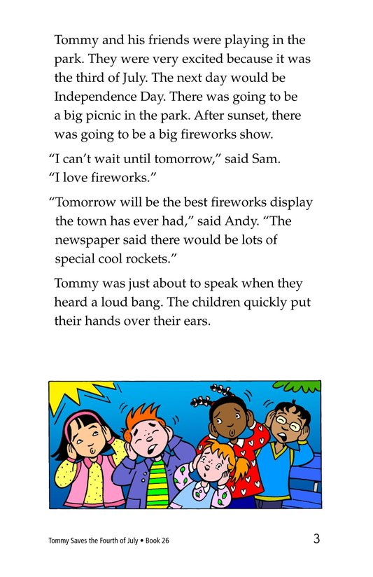 Book Preview For Tommy Saves the Fourth of July Page 3