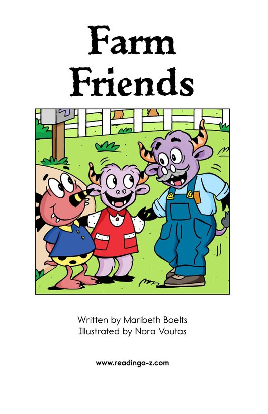 Book Preview For Farm Friends Page 2