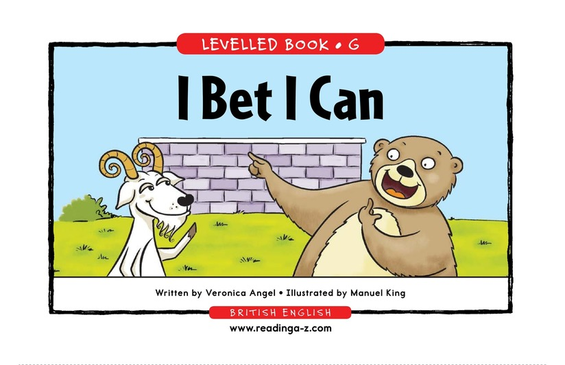 Book Preview For I Bet I Can Page 1