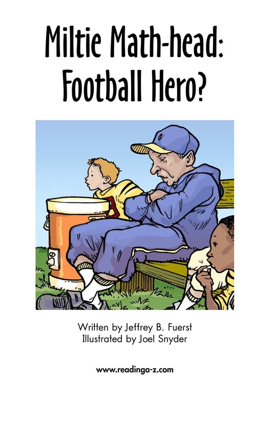 Book Preview For Miltie Math-head: Football Hero? Page 2