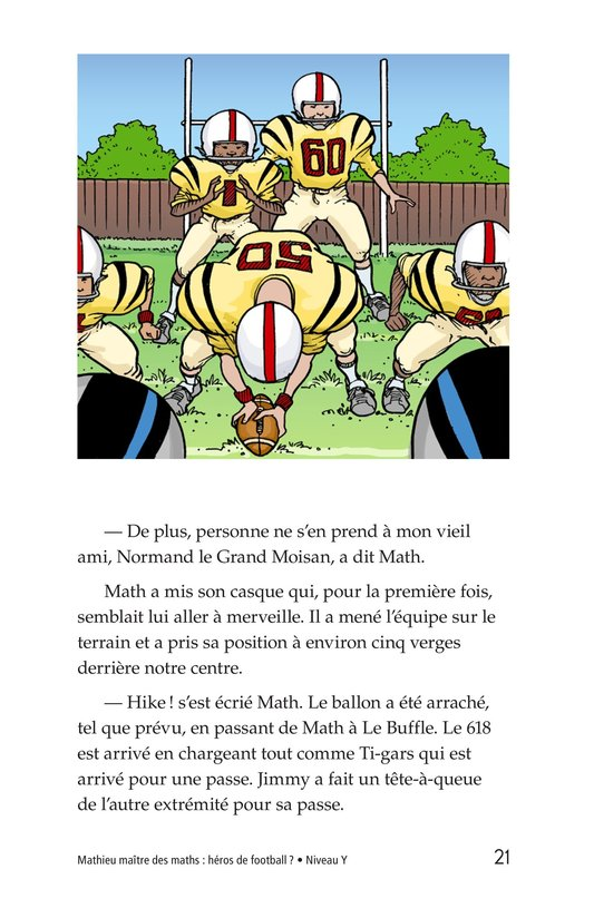 Book Preview For Miltie Math-head: Football Hero? Page 21