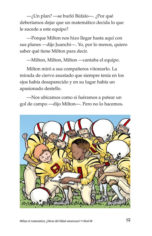 Book Preview For Miltie Math-head: Football Hero? Page 19