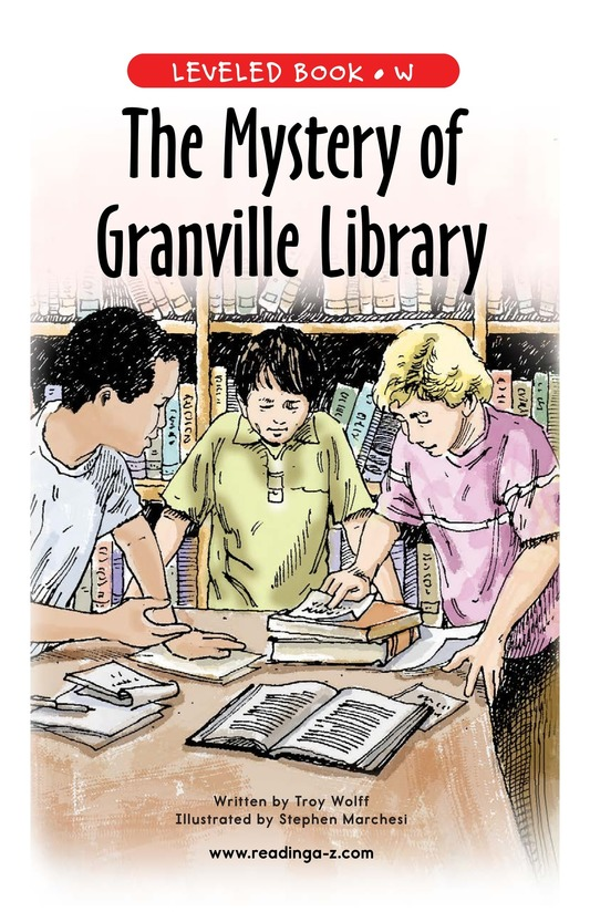 Book Preview For The Mystery of Granville Library Page 1